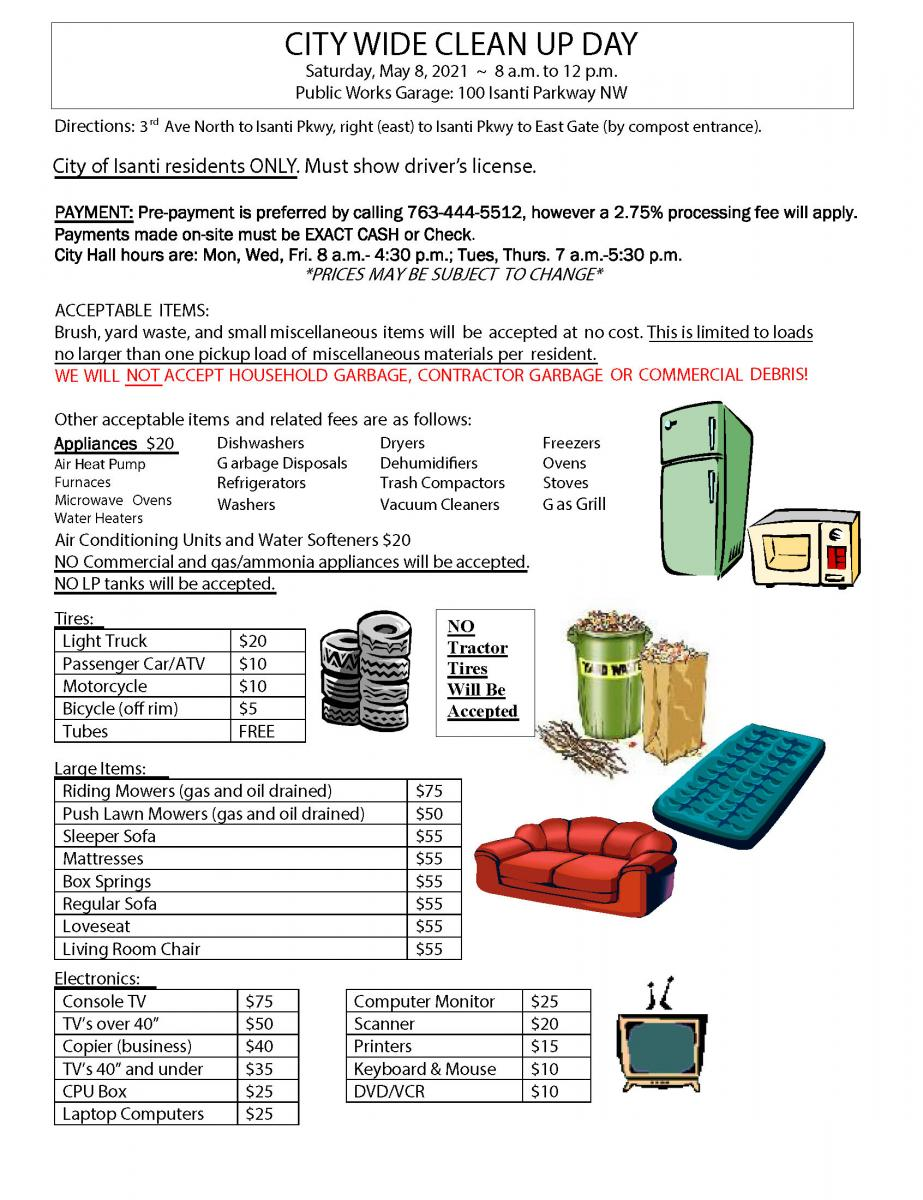 City Wide Clean Up Day Pricing