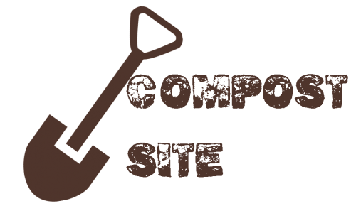 compost site with a shovel